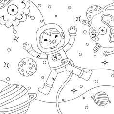 Cute coloring design for kids Free Vecto. Coloring Books, Coloring Pages, Kids Coloring, Kindergarten Activities, Kid Activities, Graphic Design Templates, Color Vector, Graphic Design Inspiration, Print Design