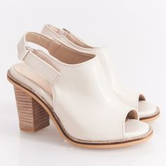 Open toe white/cream sandal heels Loeffler Randall inspired style. Super cute and comfy! Have only worn it once for less than 1 hr. In excellent condition. Perfect with any outfits! Korean size 230 which equals to US size 6. Loeffler Randall Shoes Sandals