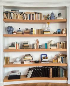 Pretty in Print: Styling Your Bookcases by Kitch Johns via Delicious Reads