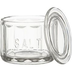 Glass Salt Cellar with Lid in Salt and Pepper | Crate and Barrel