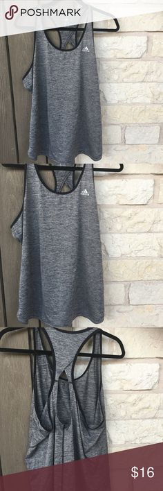 Adidas tank top Adidas tank top. Great condition. Cool open back detail. adidas Tops Tank Tops