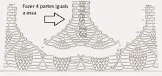 * Pérolas do Crochet: Camiseta em croche motivos abacaxis COM PAP