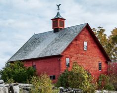 Rustic Red Barn, New Hampshire