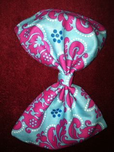 Blue n pink bow