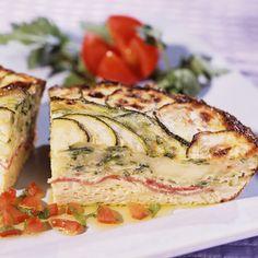 Découvrez la recette Flan de courgettes au bacon sur cuisineactuelle.fr.