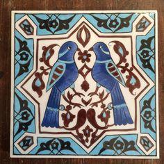 Turkish Tiles, Caligraphy, Tile Art, Tile Patterns, Islamic Art, Persian, Celtic, Kids Rugs, Birds