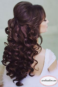 Half Up Half Down Bridal Hair - hair - Hochsteckfrisur Wedding Hairstyles Half Up Half Down, Wedding Hair Down, Wedding Hairstyles For Long Hair, Wedding Hair And Makeup, Bride Hairstyles, Wedding Bride, Winter Hairstyles, Teased Hairstyles, Hairstyles 2016