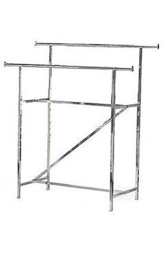Deluxe Adjustable Double Hang Bar Garment Rack ** Visit The Image Link More  Details.
