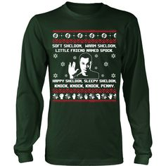 Ugly Sheldon Sweater T-Shirt/Hoodie/Long sleeves/V-Neck Made just for you!  Visit us: http://teeamazing.co