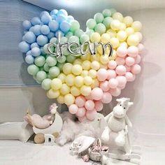 Items similar to Unicorn Party Balloons Rainbow Balloon Garland DIY Kit Latex Balloon Unicorn Baby Shower Wedding Bridal Shower, Inch on Etsy Diy Garland, Balloon Garland, Balloon Decorations, Birthday Decorations, Birthday Party Themes, Balloon Tower, Birthday Candy, Ballons Pastel, Rainbow Balloons