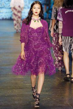 Anna Sui Spring 2016 Ready-to-Wear Fashion Show ~ETS #raspberrylace #annasui