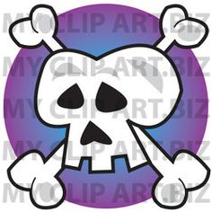 Skull and Crossbones Clip Art http://www.myclipart.biz/illustration/15899/human_skull_and_crossbones_jolly_roger_over_purple