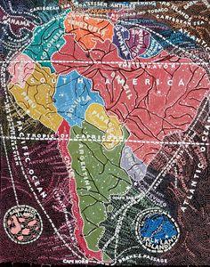 distorted maps / Paula Scher