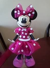 Resultado de imagen para como hacer dulceros de mimi Mimi Disney, Mimi Y Mickey, Minnie Mouse Pinata, Mini Mouse, Mouse Parties, Paper Mache, Quilling, Barbie, Birthday Parties
