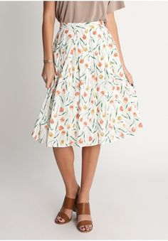 Sunkissed Floral Midi Skirt  at shopruche.com