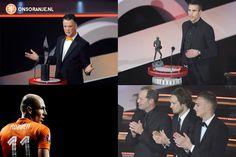 Wat een mooie avond voor het Nederlands elftal tijdens het NOS / NOC*NSF Sportgala: Louis van Gaal is coach van het jaar, de zweefduik van Robin van Persie wint de Sport in Beeld Prijs, het Nederlands elftal is Sportploeg van het jaar en Arjen Robben Sportman van het jaar!