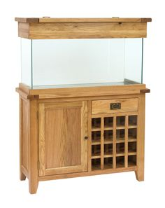AquaOak- 110cm Wine Rack Aquarium www.fishkeeper.co.uk #Aquariums