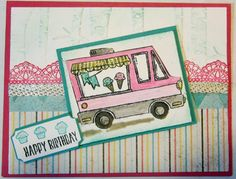 """I was going to name this SAB sneak peak card """"Tasty Truck"""" but when my son saw the card he said """"Oh, an Ice Cream Truck"""" thus the title.   F..."""