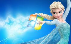 Elsa – Frozen Windows Wallpaper