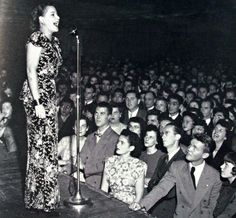 Vocalist, Margaret Whiting on stage at the University Of California - Berkeley - 1947