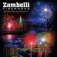 2013 Zambelli Fireworks Calendar. Kansas City, Detroit, and Beaver County, PA.