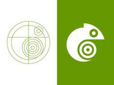 Chameleon Logo designed by Jack Prettyman. Logo Design Tutorial, Logo Luxury, Typographie Logo, Logo Shapes, Photography Logo Design, Geometric Logo, Logo Concept, Animal Logo, Animals