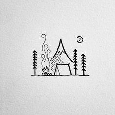 """Ando numa vibe loca de fazer tatuagem, cheguei em um momento da minha vida que quero fazer o que me faz feliz e ser quem realmente sou, aprender coisas novas e viver desafios. Nisso resolvi separar inspirações para mim e vocês algumas ideias de desenhos para quem ama acampar! Imagens: Pinterest Joseana Mar""""Exploradora de galaxias,…"""