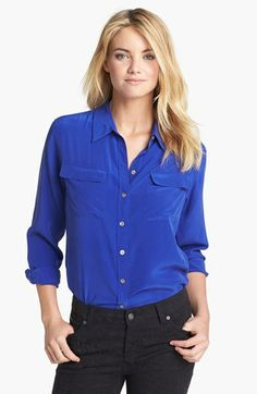 Two by Vince Camuto Silk Utility Shirt   Nordstrom