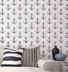 Easy Decorating with Beach and Nautical Stencils -Stenciling Walls, Fabric, Furniture, and more.