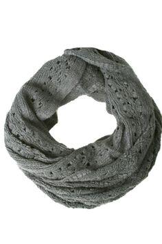Winter Scarf - Winter Round Knit Scarf 1(Grey)