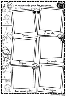 6 instantanés pour les vacances, renrtée, écrire, dessiner, se souvenir