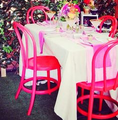Inject some colour in your reception! Pink chairs