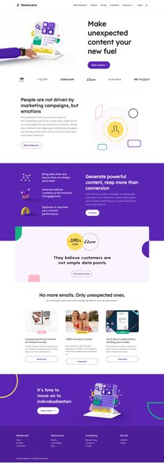 Reelevant landing page design inspiration - Lapa Ninja Landing Page Examples, Landing Page Design, Landing Pages, Website Design Layout, Homepage Design, Material Design Website, Landing Page Inspiration, Website Design Inspiration, Modern Web Design