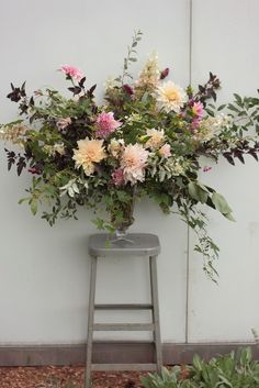 September large wild floral urn grown and designed by Love 'n Fresh Flowers.