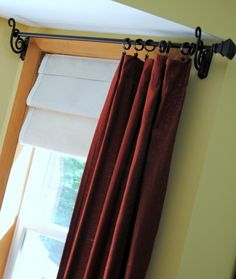 Tutorial on how to make a faux roman shade with drop cloth by @Jenna_Burger, www.sasinteriors.net