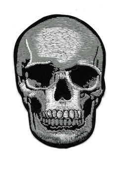 SKULL Embroidered Iron On Patch - Biker - Punk - Music - Halloween - Gothic | Crafts, Sewing, Embellishments & Finishes | eBay!