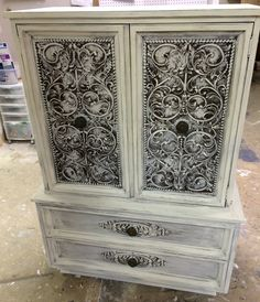 "These wardrobe armories are so handy when you need lots of storage but you don't necessary have the space. Check out how ornate this one is! What do you think?  The dimensions are 39.5"" L, 20"" W, 55"" H. SOLD!! for $375 https://www.pinterest.com/shabbychictexas/my-shabby-chic-armoires/"