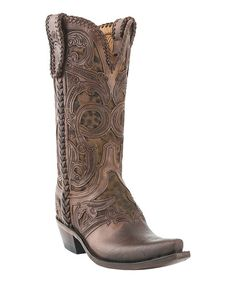 Whiskey & Camel Leather Cheetah Boot - Women