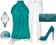 Teal and white spring