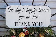 THANK YOU Wedding signs  Wedding Reception by familyattic on Etsy