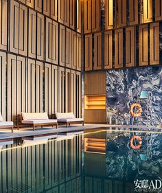 Having a swimming pool is probably one of the most must-have-list when it comes to building a home. These indoor pool ideas can help your dream come true. Hotel Swimming Pool, Lap Swimming, Luxury Swimming Pools, Indoor Swimming Pools, Dream Pools, Swimming Pool Designs, Pool Spa, Tadao Ando, Pool Side Bar