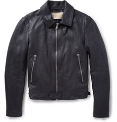 Burberry Brit - Full-Grain Leather Jacket