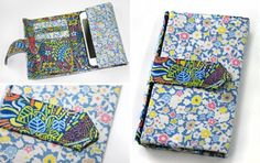 Want to sew a one of a kind mobile phone case? Liberty designed and created this mobile phone and card wallet from Wells and Mackintosh fabrics to fit an iPhone 5, but the instructions can be adjusted to fit another phone model. Choose two coordinating fabric prints and away you sew!