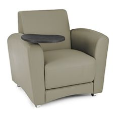 OFM InterPlay Taupe Lounge Chair with Swivel Tablet - $429.99 at OfficeAnything.com - Additional color options available.