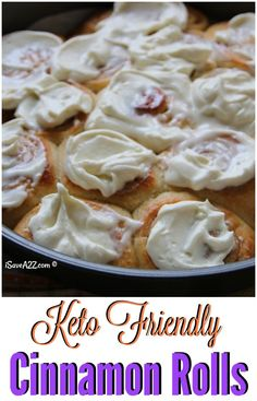 This is the best Keto Cinnamon Rolls recipe I have ever tried! Seriously, how is this a low carb dessert?! AMAZING! Totally worth trying!