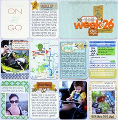 new blog look and a new pl share... #projectlife #scrapbook