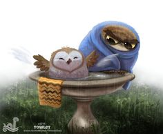 Daily Paint #1711 Towlet Piper Thibodeau
