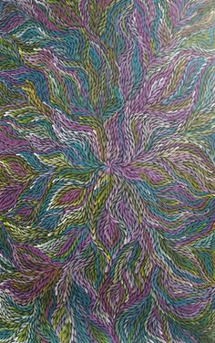 Here is another fine piece of Aboriginal Art  by Jeannie Petyarre / Bush Leaves is the title of the work.  Click on the artwork  to view more details and lots more incredible artworks from these amazingly talented artists.   Thank you and have a great day