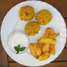 Nuggets vegetales con patatas