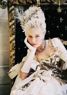 Kirsten Dunst inspired by Marie Antoinette for Vogue by Annie Leibovitz, September 2006.